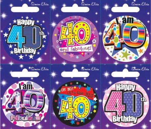 Badge 6 Card Happy Birthday 40